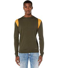 DSQUARED2 Stripe Detail Crew Neck Sweater