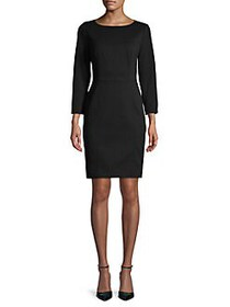 Anne Klein Scuba Sheath Dress BLACK
