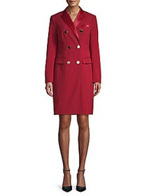 Anne Klein Double-Breasted Tuxedo Dress TITAN RED