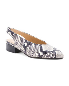 Made In Italy Snake Print Flats