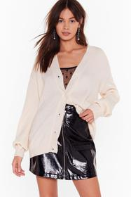 Nasty Gal Cream Knit Breaking My Heart Longline Ca