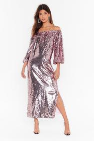 Nasty Gal Pink Ready for a Dance Off-the-Shoulder