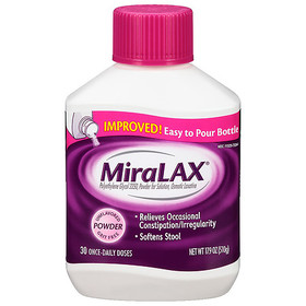 MiraLAX Polyethylene Glycol 3350 Unflavored