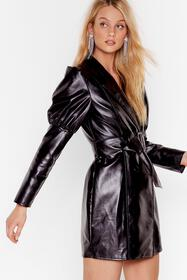 Nasty Gal Black Too Much is Faux Leather Enough Mi