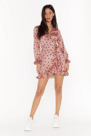 Nasty Gal Pink We've Been Spotted Satin Mini Dress