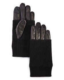 Echo - Convertible-Cuff Leather Tech Gloves