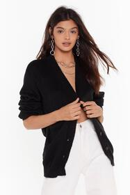 Nasty Gal Black Knit Breaking My Heart Longline Ca