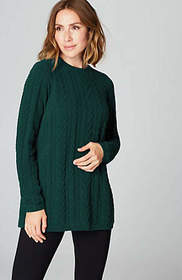 Chenille Mixed-Cables Tunic