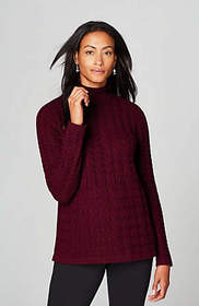 Cabled Turtleneck Sweater