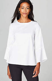 Christian Siriano For J.Jill Bell-Sleeve Top