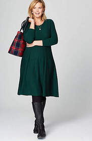 Tiered A-Line Sweater Dress