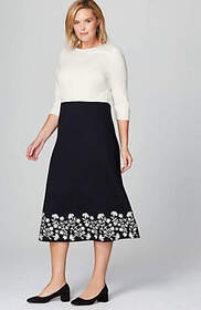 Christian Siriano For J.Jill Ponte Knit Embroidere