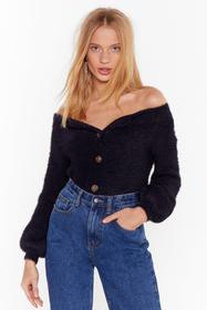 Nasty Gal Black Knit's Your Thing V-Neck Cardigan