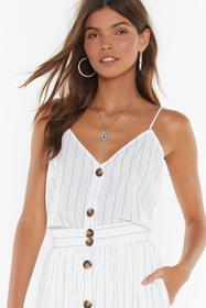 Nasty Gal White Get Your Priorities Straight Strip