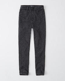 High Rise Ankle Jeans, WASHED BLACK LEOPARD PRINT