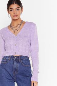 Nasty Gal Lilac Take Knit As Knit Comes Cropped Ca