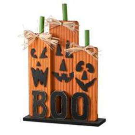 National Tree 13in. BOO Wood Wall Sign
