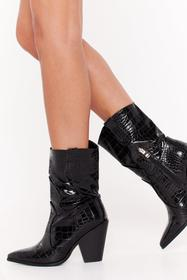 Nasty Gal Black Won't Get the West of Me Faux Leat