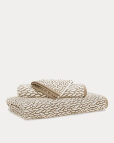 Lauren Home Sanders Basketweave Towel