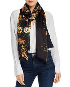 Echo - Painterly Floral Silk Scarf