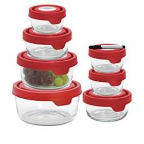 """As Is"" Anchor Hocking TrueSeal 14-piece Glass Sto"