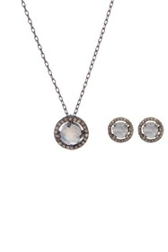 ADORNIA Rhodium Plated Sterling Silver Diamond and