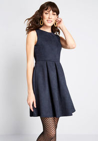 Here's to You Sleeveless Mini Dress in Navy