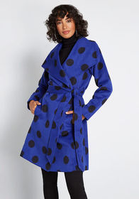 ModCloth Intelligent Around Town Belted Coat Black