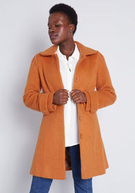ModCloth ModCloth Ladylike Lately Collared Coat Ru