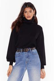 Nasty Gal Black That's How We Roll Knit Turtleneck