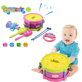5Pcs Kids Baby Roll Drum Musical Instruments Band