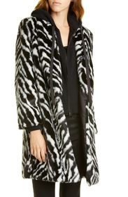 alice + olivia Kylie Faux Fur Coat with Removable