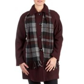 LONDON FOG Petite Button Peacoat With Scarf
