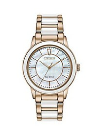 Citizen Chandler Rose Goldtone Stainless Steel & C