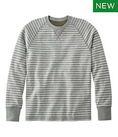 LL Bean Washed Cotton Double-Knit Crewneck, Long-S