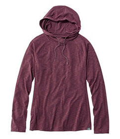 LL Bean Women's Long-Sleeve Hooded Trail Tee
