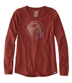 LL Bean Women's Long Sleeve L.L.Bean Camp Tee, Gra