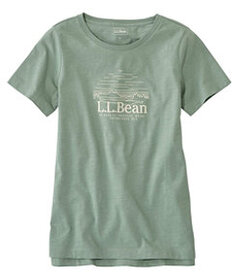 LL Bean Lakewashed Organic Cotton Tee, Short-Sleev