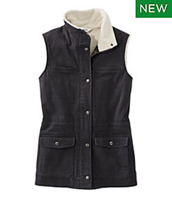 LL Bean Classic Utility Vest, Sherpa-Lined