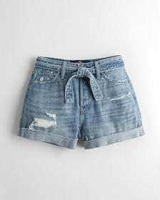 Hollister Ultra High-Rise Denim Mom Short 3 in., M