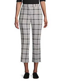JONES NEW YORK Plaid Cropped Pants TRIBE PLAID