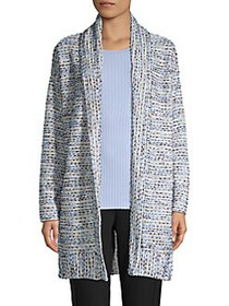 JONES NEW YORK Textured Striped Cardigan BLUE MULT