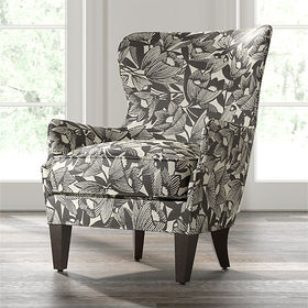Crate Barrel Brielle Wingback Chair