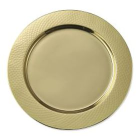 Hammered Gold Charger Plate