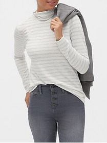Factory Stripe LuxeSpun Turtleneck Top