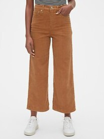 High Rise Wide-Leg Ankle Cords