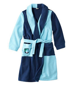 LL Bean Kids' Fleece Robe, Colorblock