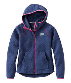 LL Bean Girls' Quilted Full-Zip Jacket, Hooded