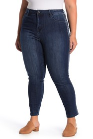 Seven7 Velour Trim Ultra High Waisted Skinny Jeans
