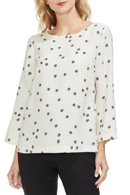 Vince Camuto Re-Set Ditsy Floral Side Button Top